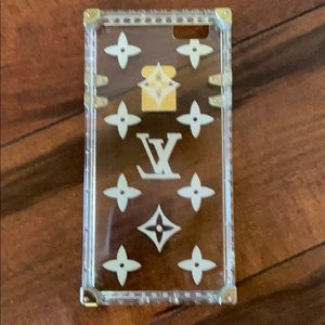 Luxury iPhone Apple Clear Case 6/6S Gold details